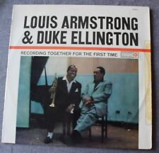 Louis Armstrong & Duke Ellington,recording together for the first, LP - 33 tours