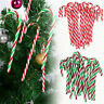 12 X Christmas Acrylic 15cm Candy Cane Xmas Tree Hanging Decoration Ornaments
