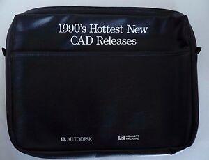Hewlett Packard Hp Black Attache Bag 1990's Hottest New CAD Releases AutoDesk