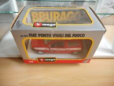 Bburago Burago Fiat Punto Vigili Del Fuoco in Red on 1:24 in Box