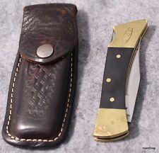 Case XX 2159 LSSP Knife Folding Lock Blade w/ Leather Sheath