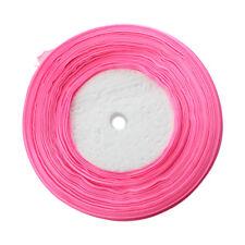 "WEDDING 50 Yard Roll Of Sheer Organza Ribbon 10mm (3/8"") width Purple F6"