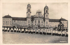 AK Einsiedeln Kirchen Einzug Foto Postkarte 1928