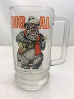 Vintage Walt Disney Country Bear Jamboree Big AL Glass Souvenir Mug Stein Glass