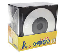 10x Mini CD-RW Rewritable 21min 185mb 8cm CDR CD Blank Compact Disc + Jewel Case