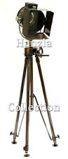 Vintage Black Tripod Floor Lamp Nautical Theatre Retro Spotlight Industrial