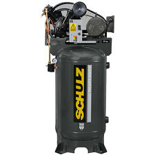 SCHULZ AIR COMPRESSOR - 5HP- SINGLE PHASE - 80  GALL VERTICAL - 20CFM - 175 PSI