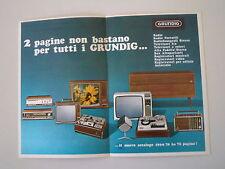 advertising Pubblicità 1969 GRUNDIG RADIO/REGISTRATORI/TELEVISORI