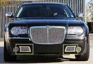 T-Rex 55471 Upper Class Polished Stainless Bumper Mesh Grille for Chrysler 300C