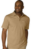 Edwards Garment Men's Short Sleeve Polyester Winkle Resist Polo Shirt. 1576