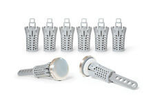 Drain Strain No-Clog Drain Stopper (Brushed Nickel)   2-Pack + 6 Baskets Special