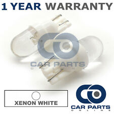 2X blanc W5W 501 éclairage latéral de plaque d'immatriculation intérieur répéteur dôme ampoules à led