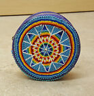 NICE NATIVE AMERICAN INDIAN HAND CUT BEADED COMMERCIAL PLASTIC ROUND COIN PURSE