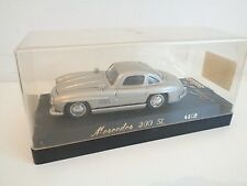 SOLIDO AGE D'OR DIECAST MODEL 4502 - MERCEDES 300 SL in SILVER - MINT IN CASE