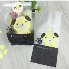 50Pcs Cute Dog Animal Cellophane Party Wedding Favour Biscuit Gift Bags