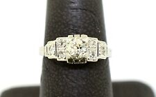 Vintage Platinum and Diamond Engagement Ring sz 6.25
