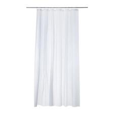 IKEA INNAREN SHOWER CURTAIN WHITE Size 180x180 Cm