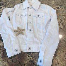 Adriano Goldschmied XS Mya Denim Jacket White Jean Sporty Casual Coat AG