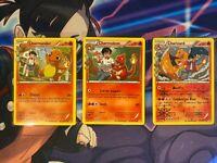 Pokemon Generations - Charmander / Charmeleon / Charizard (rev holo) set NM