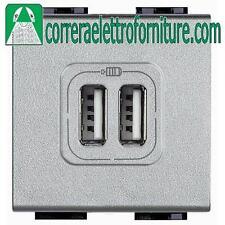 BTICINO LIVING NT4285C2 CARICATORE 2 PRESE USB TECH