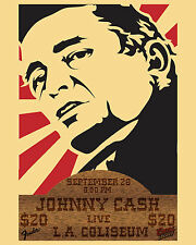 Johnny Cash Concert Ad Poster - 8x10 Color Photo