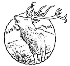Unmounted Rubber Stamps, Wildlife, Hunting, Alaska, Animals, Elk Scene, Scenic
