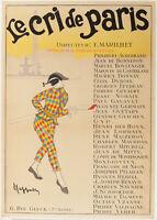 Affiche Originale - L. Cappiello - Le Cri de Paris - Journal - Caricature - 1901