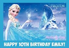 FROZEN ELSA ANNA OLAF A4 EDIBLE IMAGE CAKE TOPPER BIRTHDAY PARTY KIDS