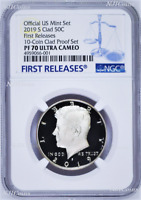 2019 S Proof Kennedy Half Dollar 50c NGC PF70 UCAM First Releases from clad set
