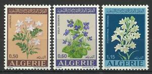 ALGERIA 1972 FLOWERS SET MINT