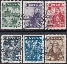 Österreich 1933 Nr. 557-562 Wohlfahrt tadellos Befund VÖB gestempelt