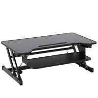"""Standing Desk Adjustable Height Stand Up Sit Stand For Laptop And Monitor,36"""""""