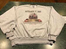September 11th The Day The Eagle Cried In Remembrance Sweatshirt Adult Size XL