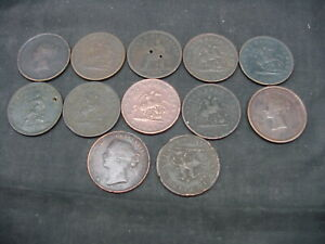 lot of 12 canadian  pennies tokens