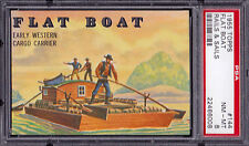 """1955 Topps Rails and Sails 144 """"Flat Boat"""".  PSA 8 NMMT.  (TX12560)."""