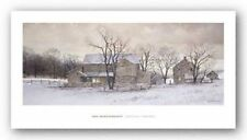 WINTER FARMHOUSE ART Evening Chores by Ray Hendershot