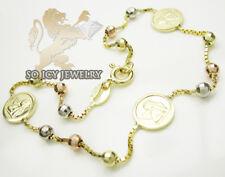 3.70 Grams Ladies 14K Yellow Gold Rosary Baby Angel Box Bead Bracelet