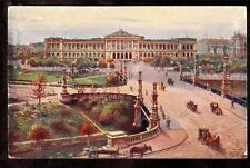 1911 german Tuck carriages University Strassburg France postcard