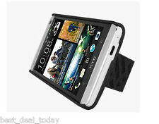 Verizon OEM Shell Holster Combo Case Belt Clip For HTC One 1 6500 6500LVW Black