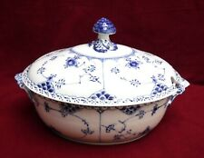 Royal Copenhagen Blue Fluted Half Lace pattern Large Oval Soup Tureen #595