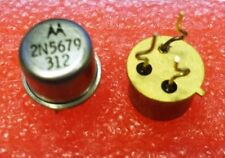 10 Pcs New 2N5679 Motorola Si PNP Transistor 100V 1A New Lot TO-39 Formed Leads