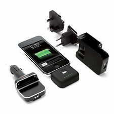 GRIFFIN IPHONE 3 3G 4 4S POWERDUO RESERVE MAINS & CAR CHARGER PLUS BATTERY IPOD