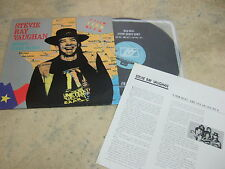"STEVIE RAY VAUGHAN TESTIFY TEXAS FLOOD LIVE '91 KOREA VINYL LP 12"" 11TRACK 33RPM"