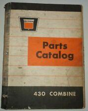 Oliver 430 Combine Parts Catalog Manual Book ORIGINAL! Dec 1964