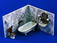 █ 1/35 Resin Washing Room Toilet Set No Wall Unpainted Unassembled QJ033