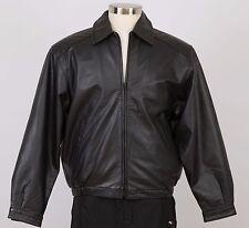 Men's Leather Jacket Size M Medium Black Insulated KNIGHTSBRIDGE
