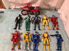 Lot Of 2003 Bandai Power Rangers Action Figures 10 Figures,1 Motorcycle?