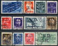 Occupazione Croata Sebenico e Spalato 1944 12 pezzi sovr. N.D.H. usati (m1761)