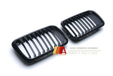 BLACK GLOSSY SHINY FRONT GRILLES for 1991-1996 BMW E36 3-SERIES 318i 328i M3