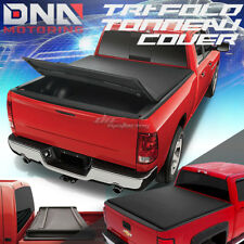 FOR 04-14 F150 5.5' BED FLEETSIDE SOFT TRI-FOLD ADJUSTABLE TRUNK TONNEAU COVER
